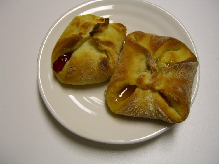 Apricot and Raspberry Kolaches
