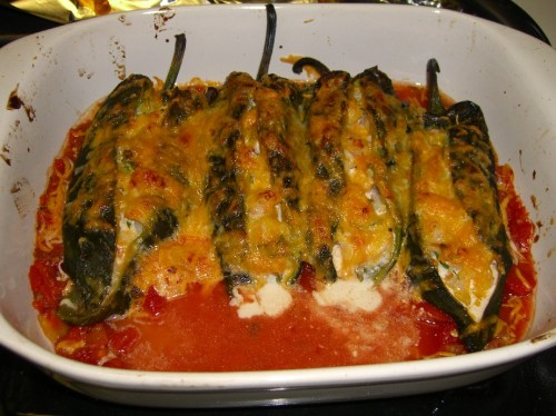 Shrimp Stuffed Poblanos