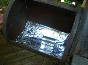 Make-shift smoke generator