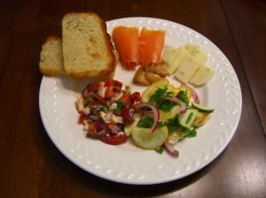 Summer salad plate