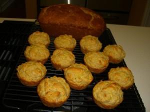 Zucchini bread and squash muffins