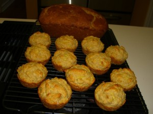 Zucchini bread and squash muffins