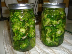 Pickling broccoli