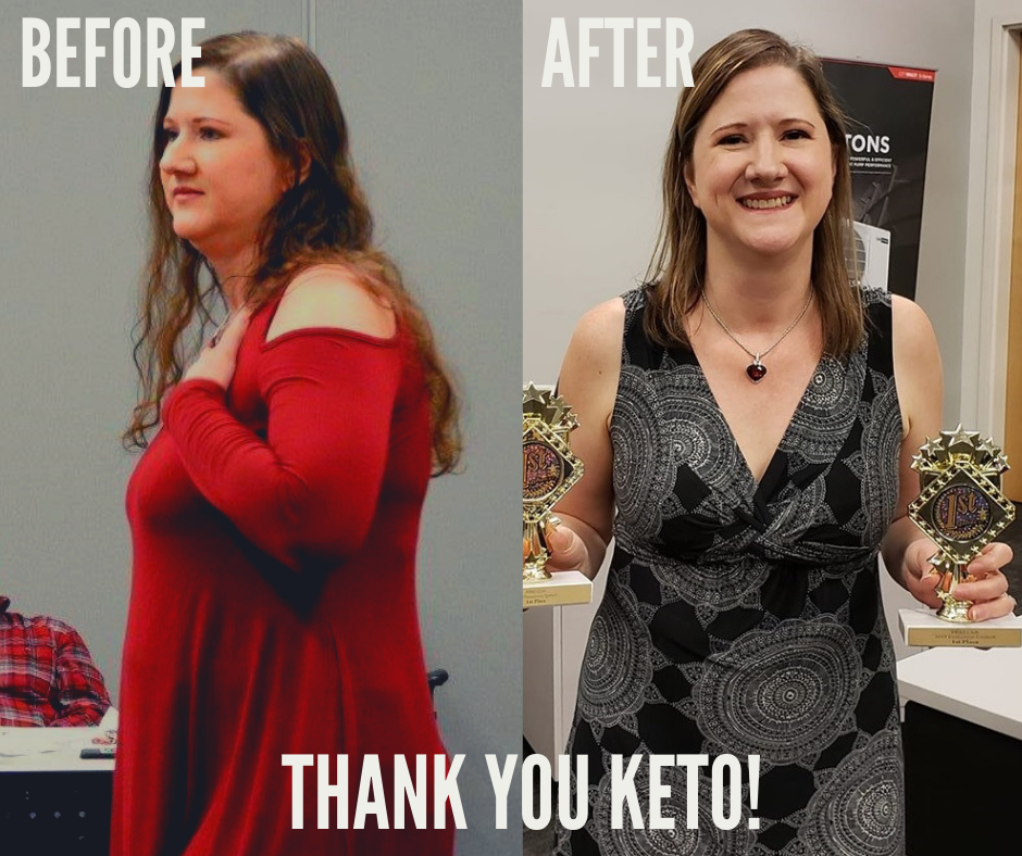 Before & AFTER THank you keto!
